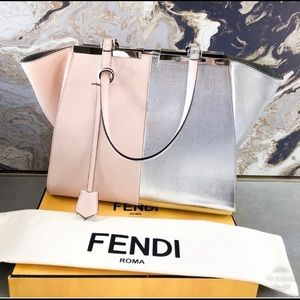Auth. Fendi Limited Ed. Large Tres Jours Tote Bag